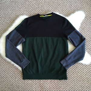 Calvin Klein Green Color Block Sweatshirt Top